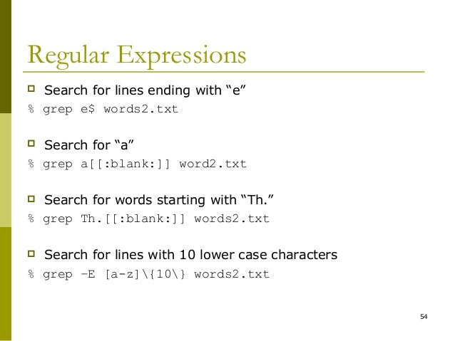 Regular Expressions in grep