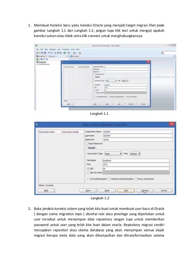 25605 tutorial migrasi database dari my sql ke oracle ( kelompok 9 ) Slide 2