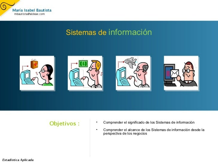 Sistemas de  información <ul><ul><li>Comprender el significado de los Sistemas de información </li></ul></ul><ul><ul><li>C...