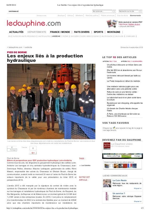 04/09/2016 Les Salelles | Les enjeux liés à la production hydraulique http://c.ledauphine.com/ardeche/2016/04/02/les-enjeu...