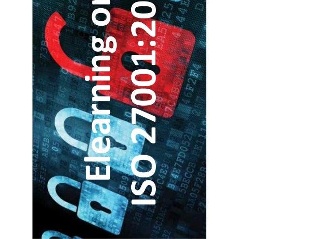 Elearning on ISO 27001:2013