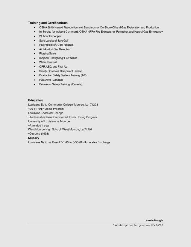 jamie baugh resume