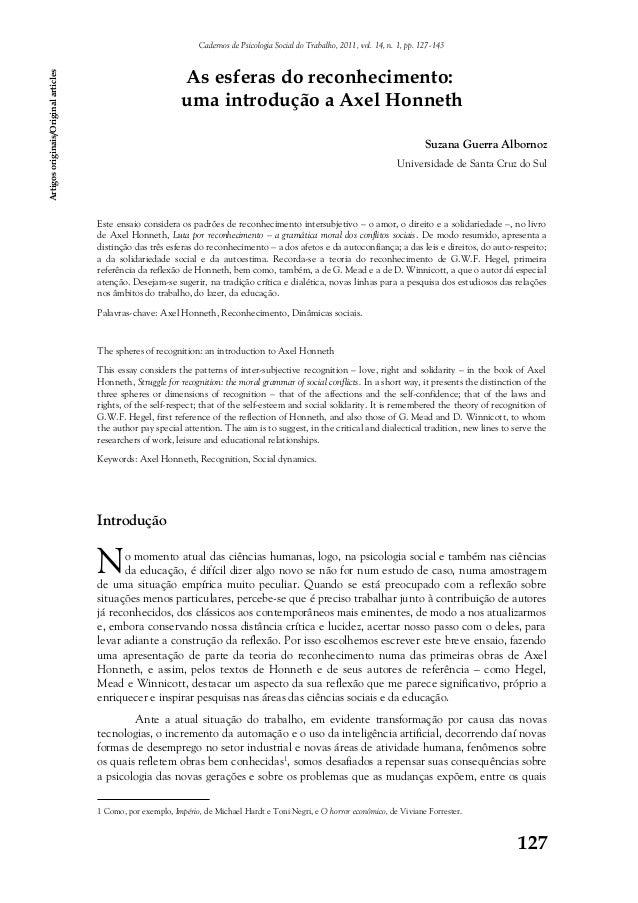 Cadernos de Psicologia Social do Trabalho, 2011, vol. 14, n. 1, pp. 127-143 Artigos originais/Original articles  As esfera...