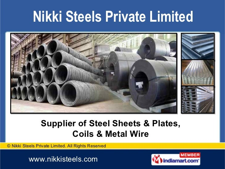 Supplier of Steel Sheets & Plates, Coils & Metal Wire