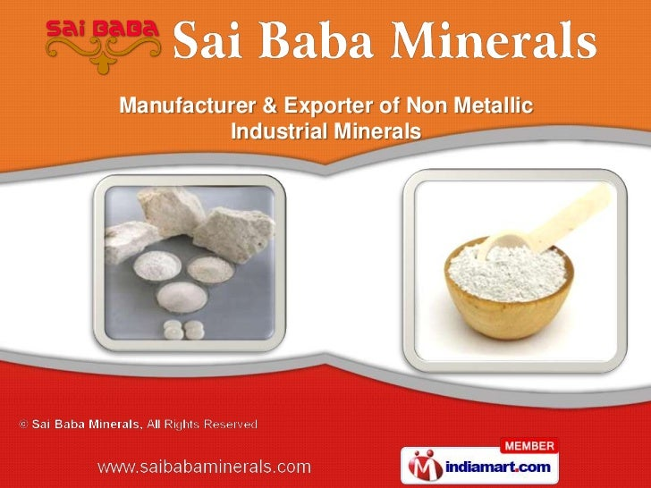 Manufacturer & Exporter of Non Metallic         Industrial Minerals