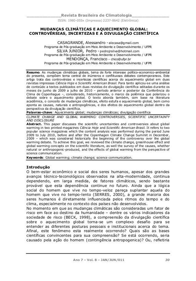 _____________Revista Brasileira de Climatologia______________ ISSN: 1980-055x (Impressa) 2237-8642 (Eletrônica) Ano 7 – Vo...
