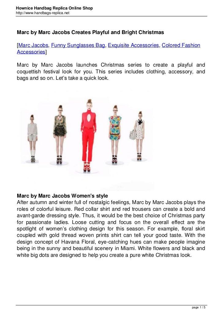Hownice Handbag Replica Online Shophttp://www.handbags-replica.netMarc by Marc Jacobs Creates Playful and Bright Christmas...