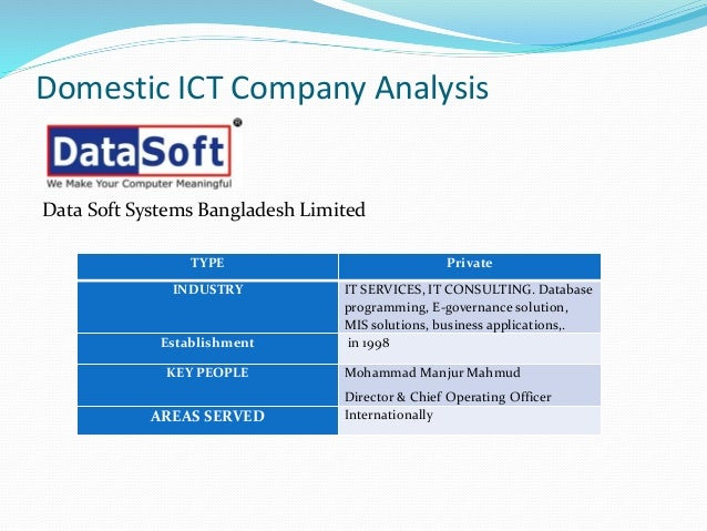 ICT Industry in Context of Bangladesh and Global context