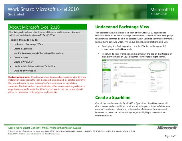 More Work Smart Content: http://microsoft.com/itshowcase This guide is for informational purposes only. MICROSOFT MAKES NO...