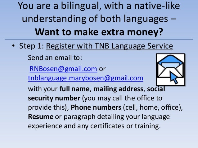 TNB Language Service -  How it all works & How to get PAID Slide 2