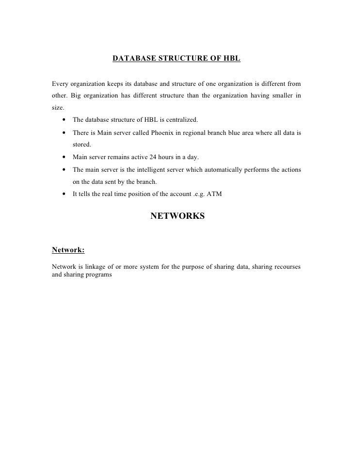 HBL ( Organizational Chart)