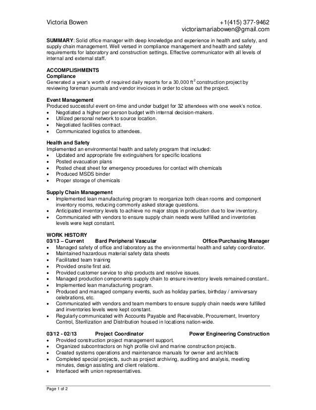 VictoriaMBowen Resume