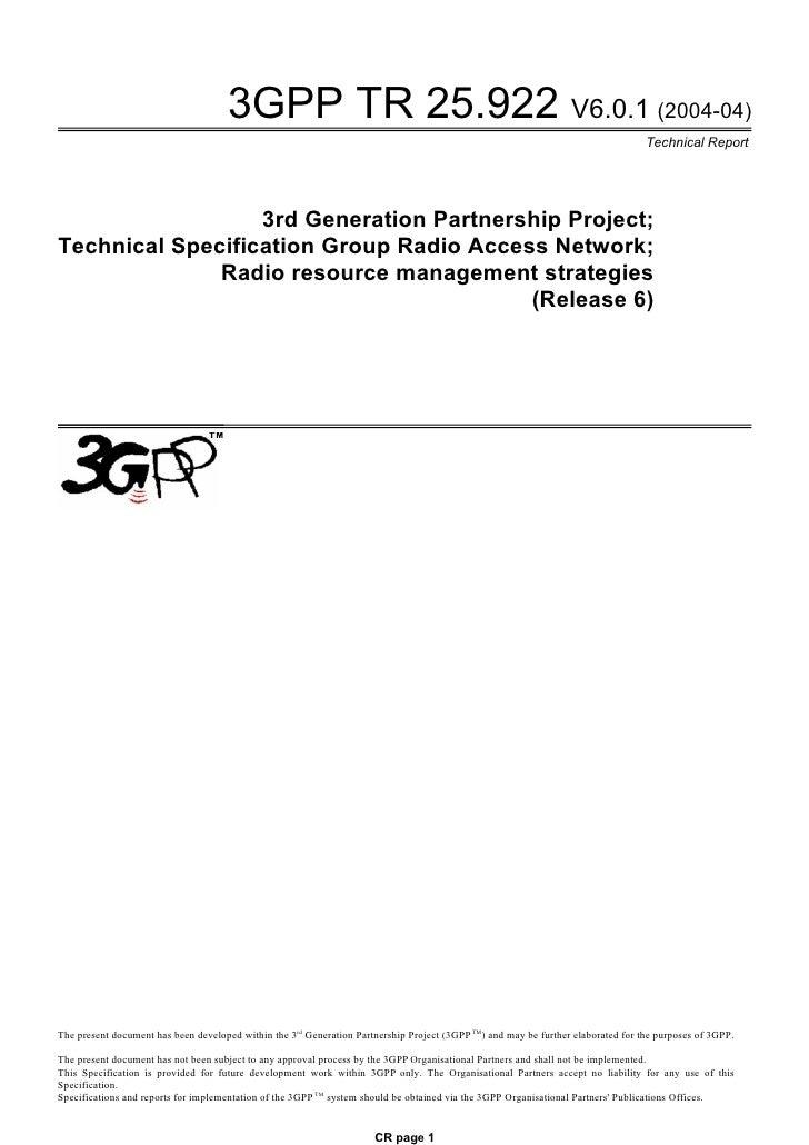 3GPP TR 25.922 V6.0.1 (2004-04)                                                                                           ...
