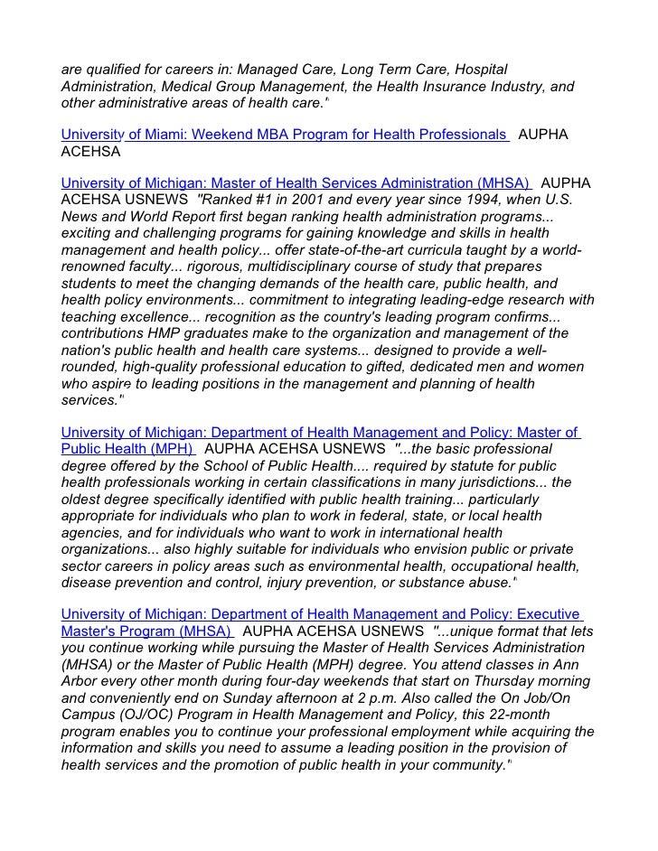 Masters In Public Health Programs