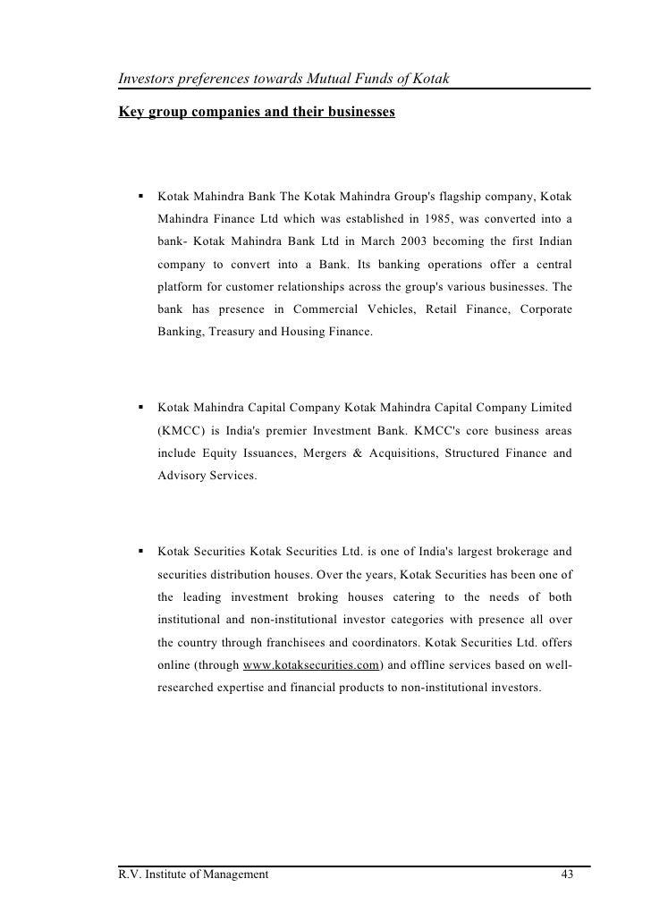 investor's attitude towards uti mutual funds