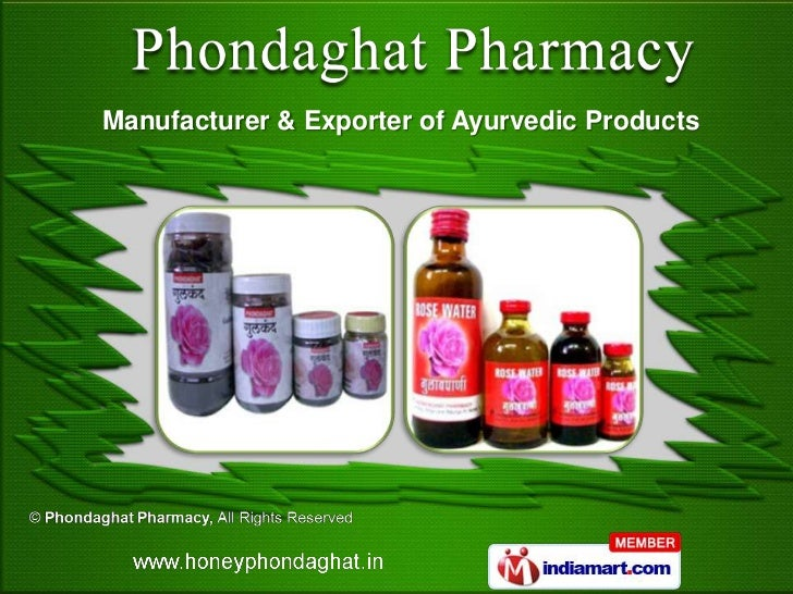 Manufacturer & Exporter of Ayurvedic Products