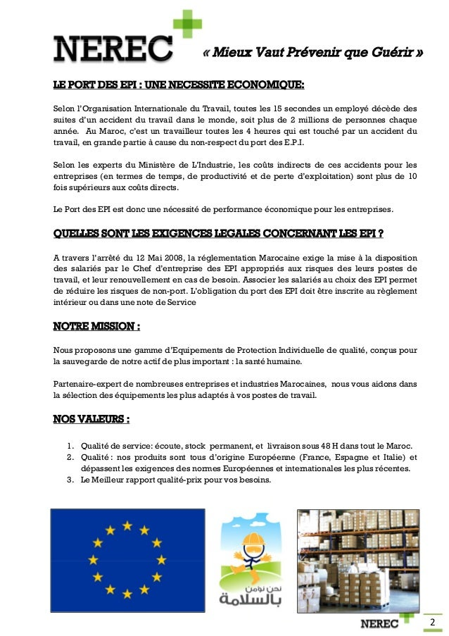Catalogue nerec epi - Sensibilisation au port des epi ...