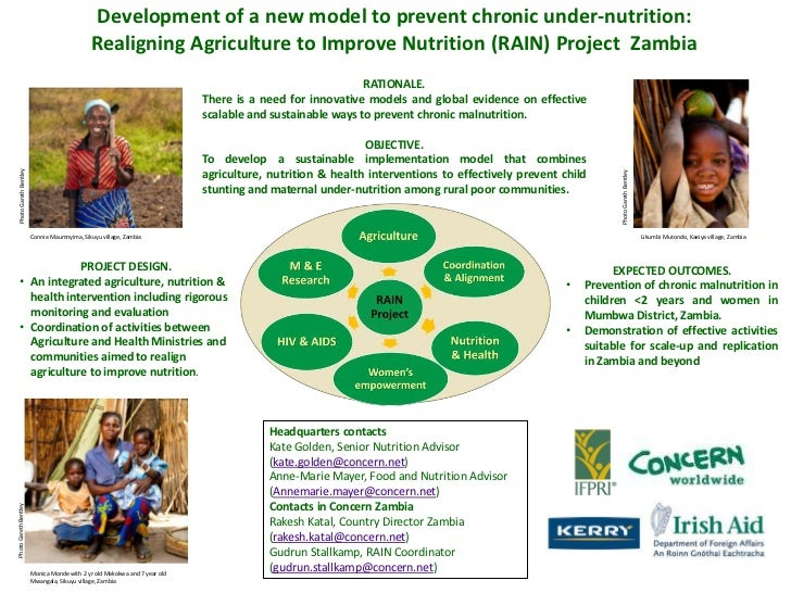 Development of a new model to prevent chronic under-nutrition:<br />Realigning Agriculture to Improve Nutrition (RAIN) Pro...