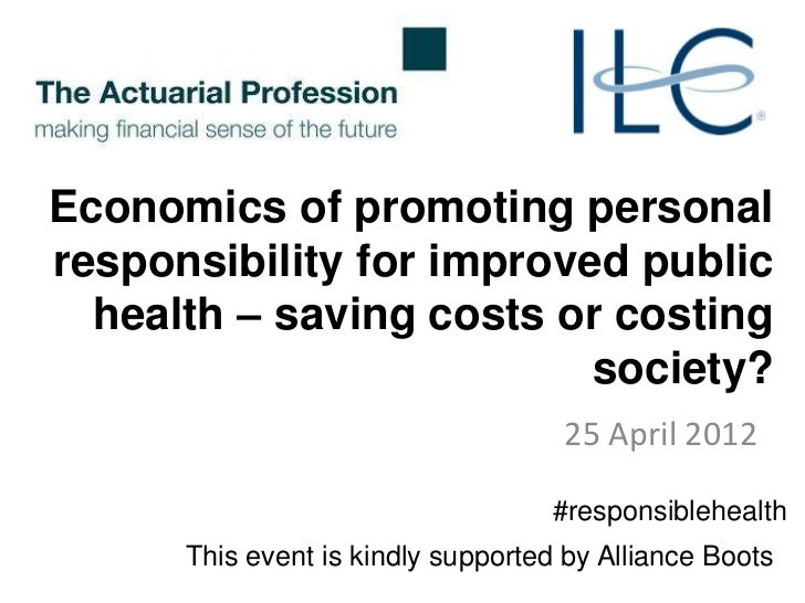 Economics of promoting personalresponsibility for improved public  health – saving costs or costing                       ...