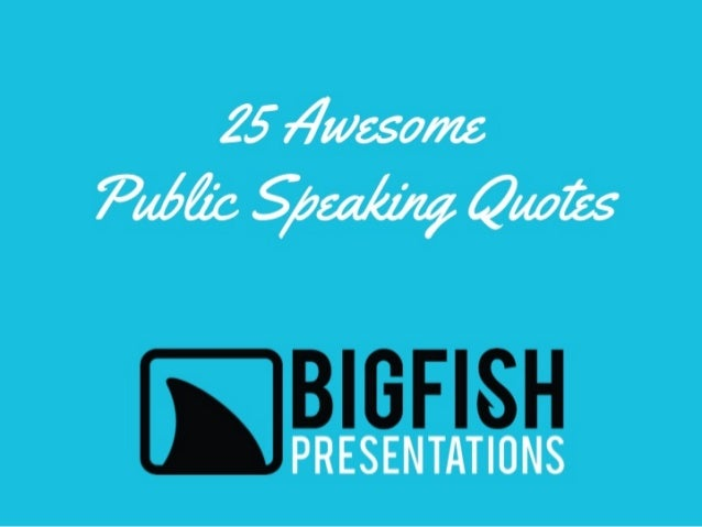 Simply inspiring public speaking