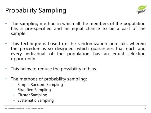 types of sampling methods pdf