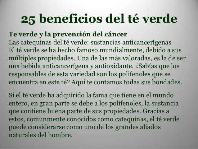 25 beneficios del te verde pare 1 for Te verde beneficios para la salud