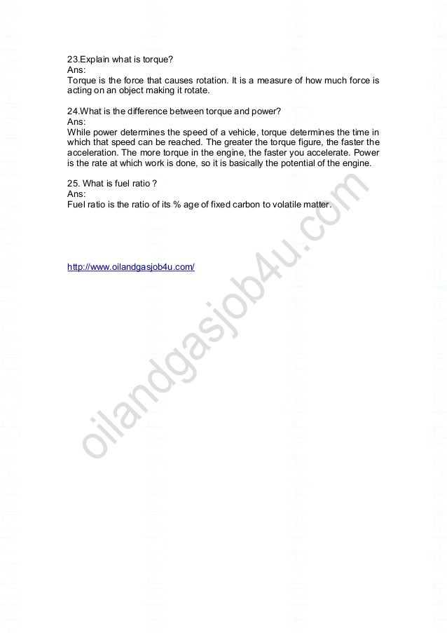 Diploma Mechanical Engineering Interview Questions And Answers Pdf