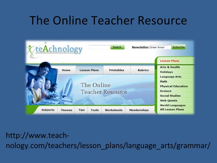 Examples of the Free Resources Library