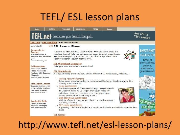 website lesson plans essay