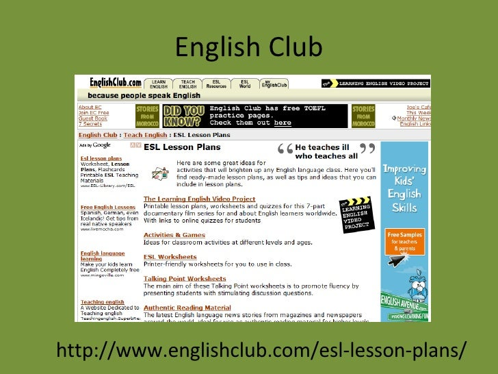Tools for Building Investigative and Informed Students     Online ESL  Resources