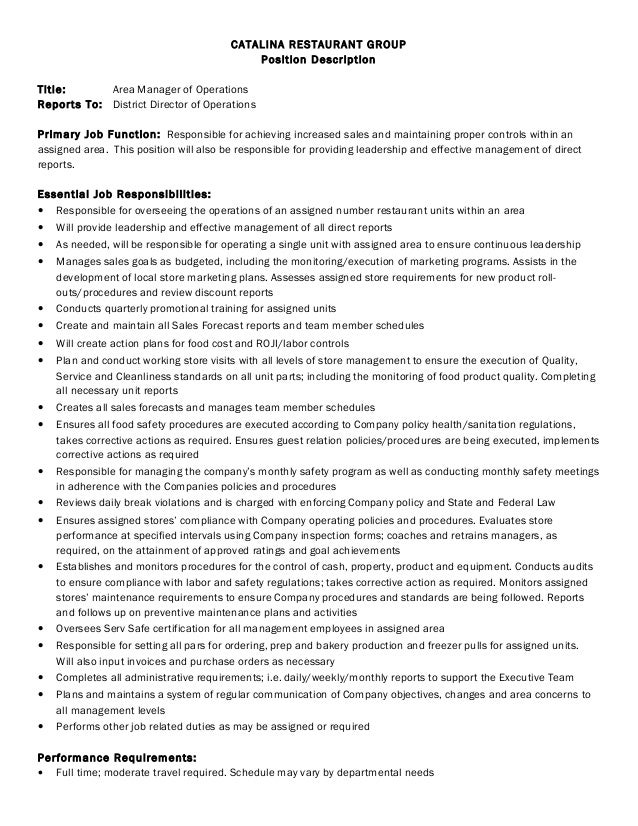 High Quality Infrastructure Manager Job Description