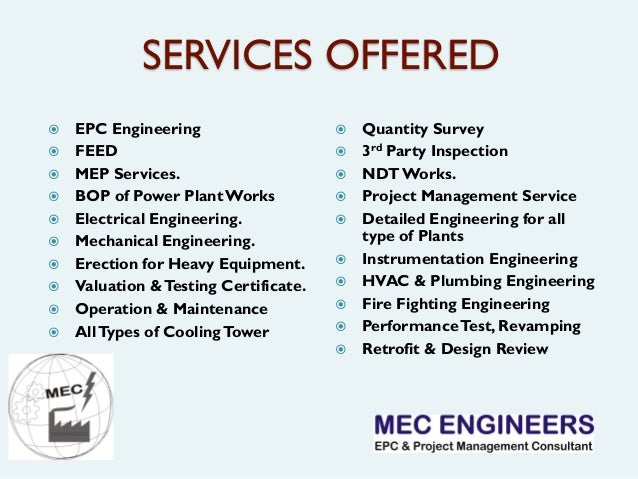 Mep Engineering Service : Mec engineers company profiles f