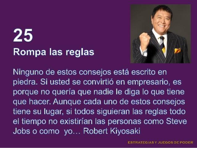25 Consejos de Robert Kiyosaki