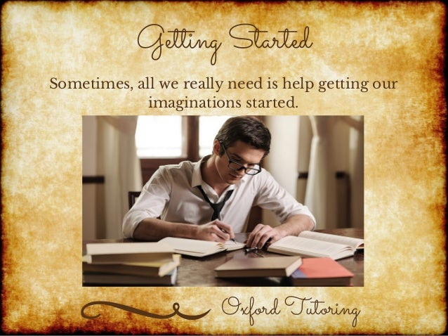 creative writing tutoring