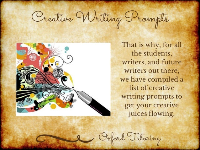 Creative writing prompts using pictures