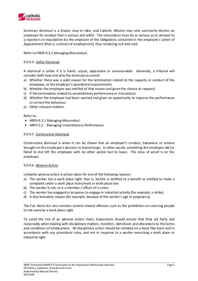 Hr09 9 0 termination of the employment relationship overview 5 spiritdancerdesigns Images