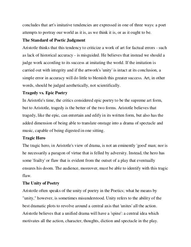 a literary analysis of poetic by aristotle Aristotle never gives an explicit analysis of the term aristotle divides the poetry into the you can find anything about literature in.