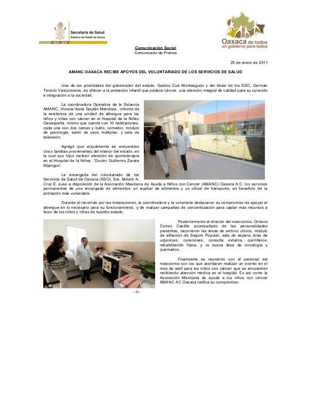 25 De Enero De 2010 Amanc Oaxaca Recibe Apoyos Del