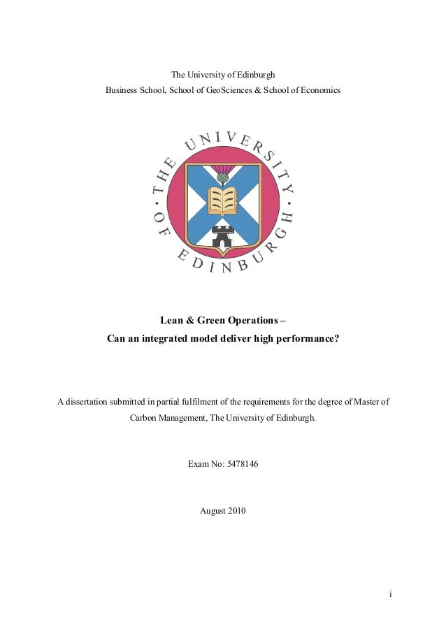 Operations management dissertation