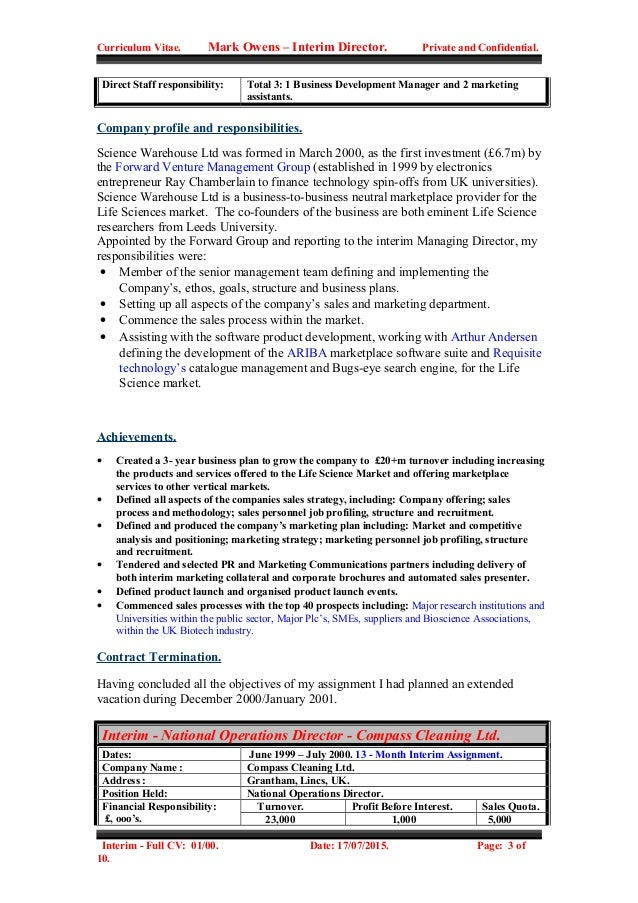 mark owens full cv