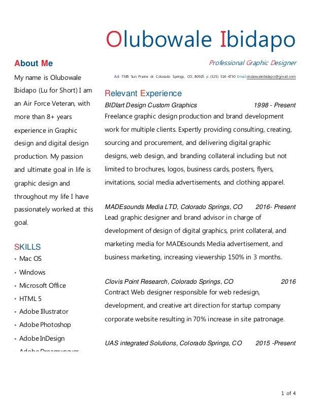 graphic design resume 2016 rework