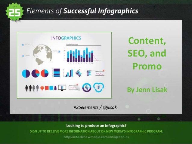 Content, SEO, and Promo By Jenn Lisak #25elements / @jlisak