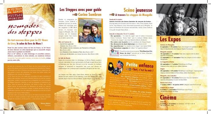 Les Steppes avec pour guide                                                                                    Scène jeune...