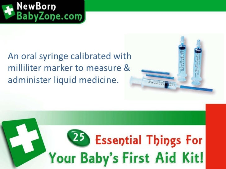 25 Essential Things For Your Baby S First Aid Kit