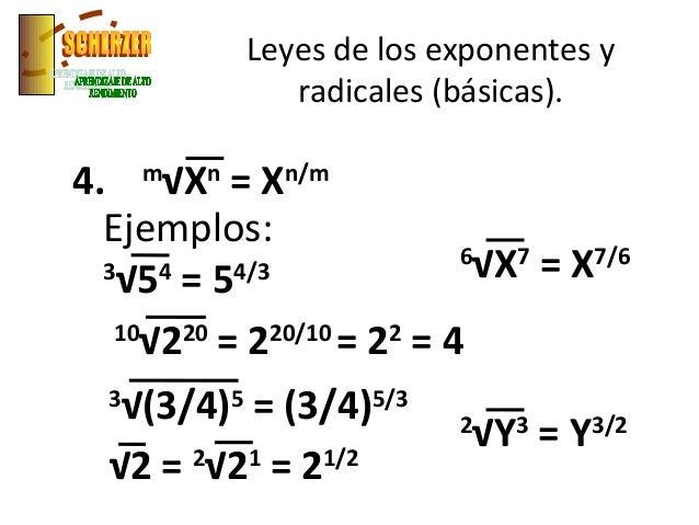 25 Exponentes Y Radicales
