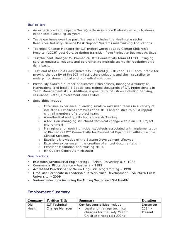 SlideShare  Test Manager Resume