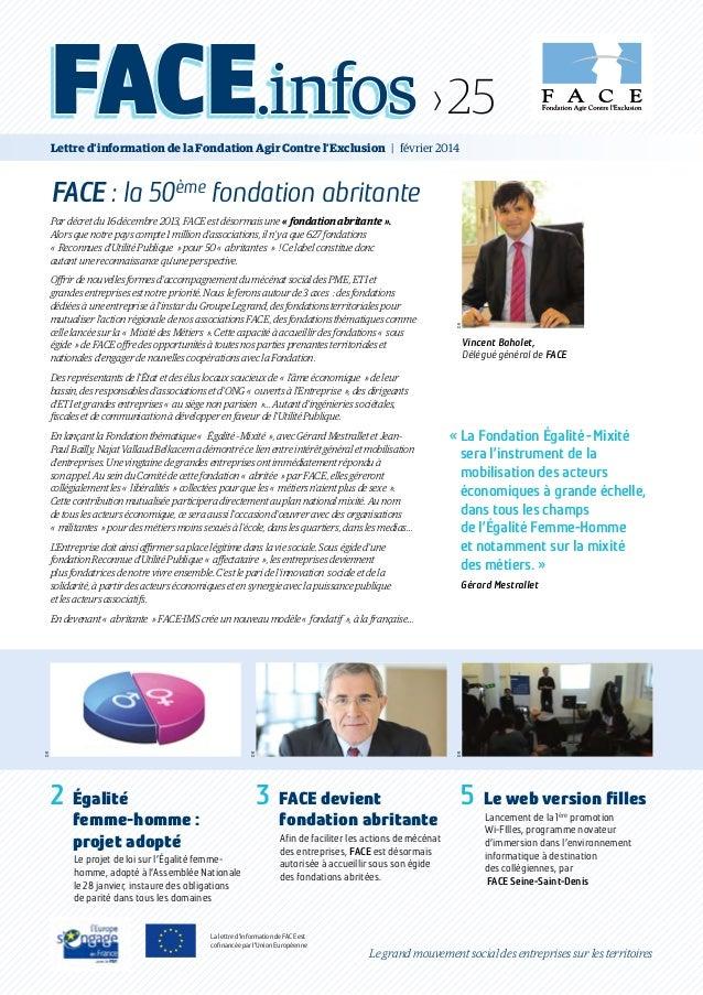 Vincent Baholet, Délégué général de FACE DR «La Fondation Égalité-Mixité sera l'instrument de la mobilisation des acteu...