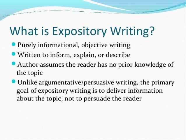 Explain expository writing