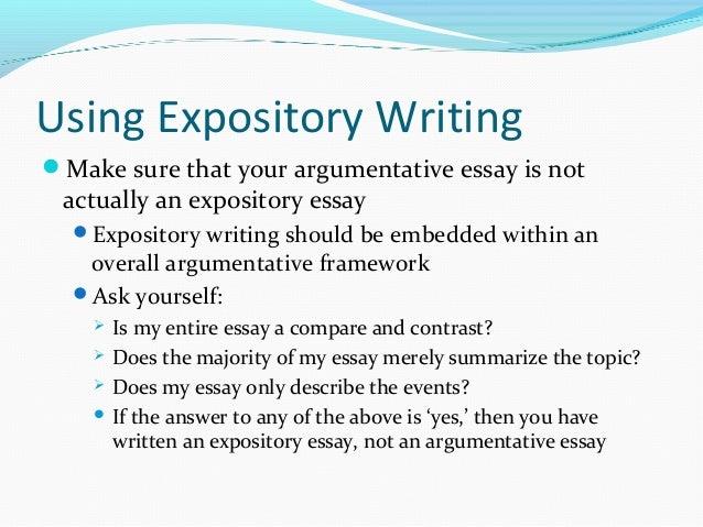 expository argumentative essay