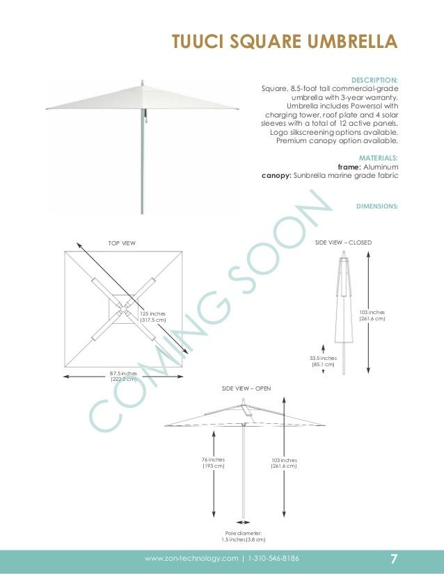 Zon design binder - Zon parasol ...